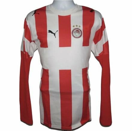 2006-2007 Olympiakos Home Football Shirt, L/S, Puma, Large (Excellent Condition)